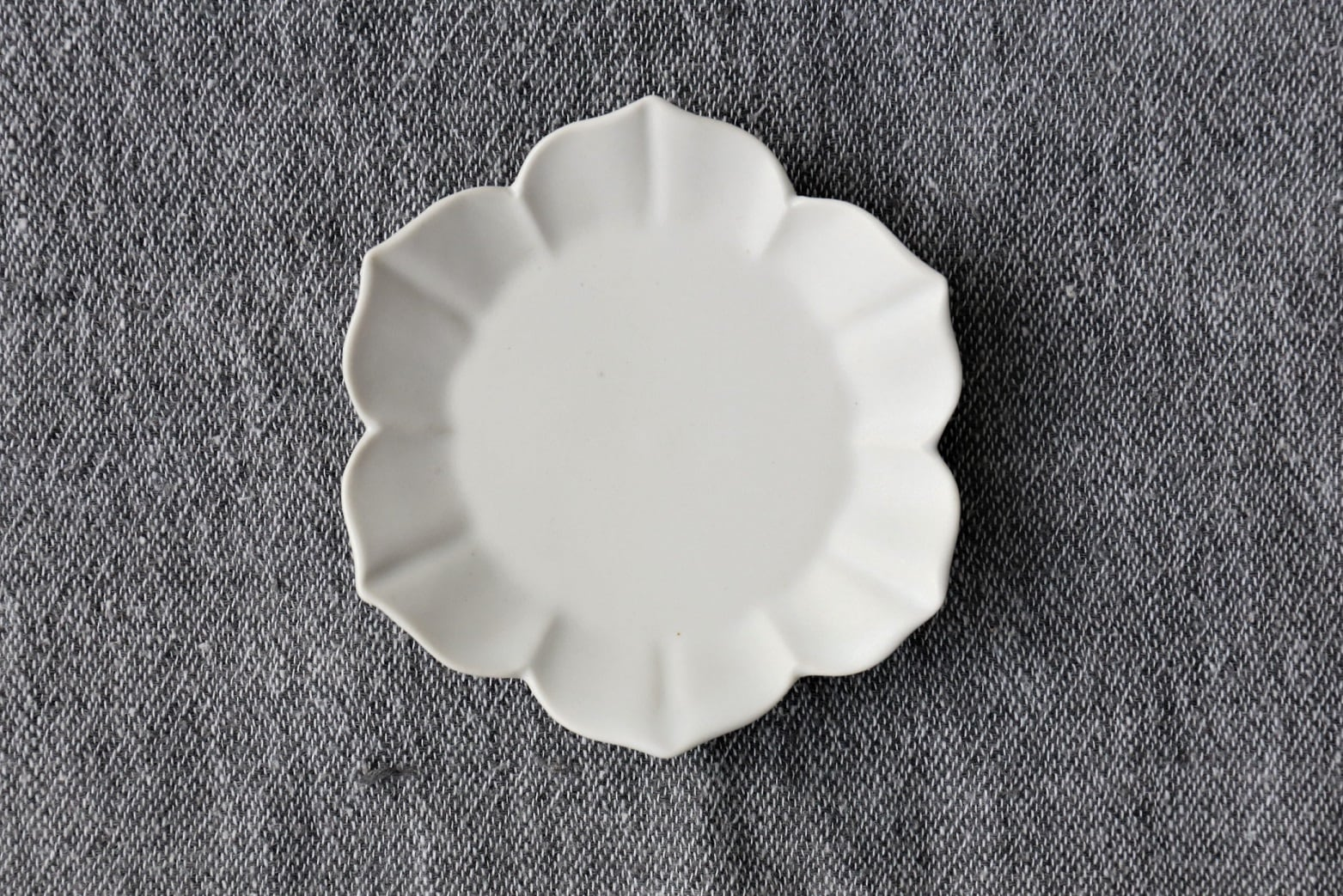 臼杵焼 豆皿(稜花)