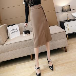 2色/ハイウエストベルトのタイトスカート ・20123