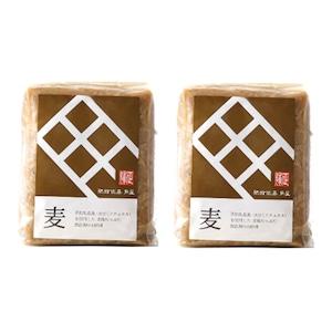 おてがるセット14(送料無料)角屋の味噌(麦味噌500g×2個)