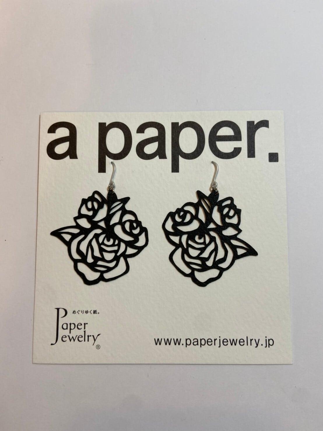 【Paper Jewely】ローズ/ピアス