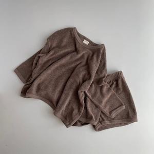 【即納】basic towel set   oatmeal(パイル地セットアップ)