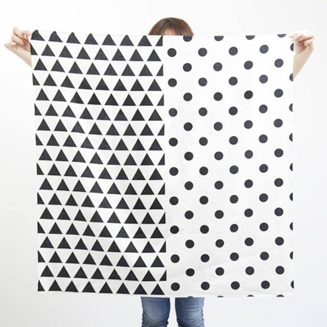 furoshiki/black × scale & dots ハネルカ風呂敷 / 墨 x 水玉鱗