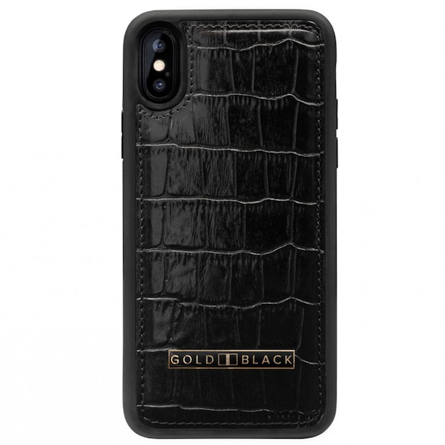 [12]ゴールドブラック(GOLDBLACK) iPHONE XR CASE CROCO BLACK 19110