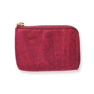 VEGAN COIN CASE - MAROON / コインケース 赤 コルク製 ビーガン 一年保証
