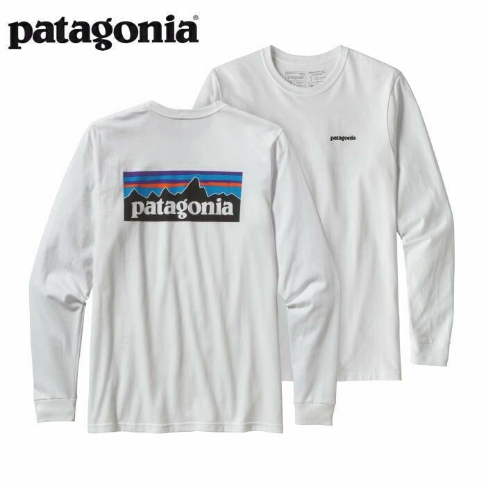 パタゴニア PATAGONIA Tシャツ 長袖 ロンT メンズ ロングスリーブ P-6ロゴ レスポンシビリティー 38518 White 【正規取扱店】