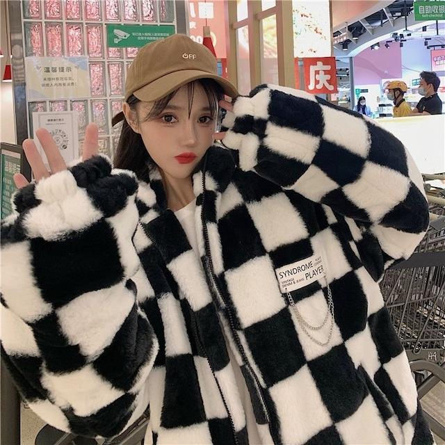 【アウター】ふわふわ柔らかい保温ファッションコート54115496