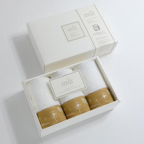 無撚糸(むねんし)高級Hand Towel 3枚SET Twinkle BEIGE / Twinkle BEIGE / Twinkle BEIGE
