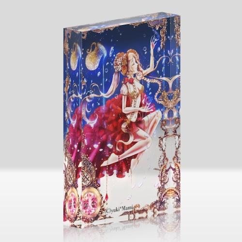 オリジナルアクリルブロック(クリア)【星之物語-Star Story- 水瓶座-Aquarius-】 / yuki*Mami