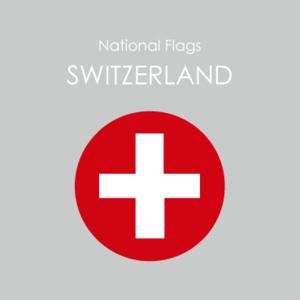 円形国旗ステッカー「スイス」