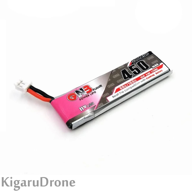 【1S HV 450mA】GNB 450mAh 1S 80C HVリポバッテリー  TinyWhoop Inductrix用 JST-PH 2.0コネクター