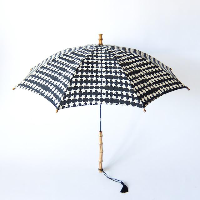 傳 tutaee - ツタエノヒガサ きつねのたすき - 長日傘 - キラキラ黒