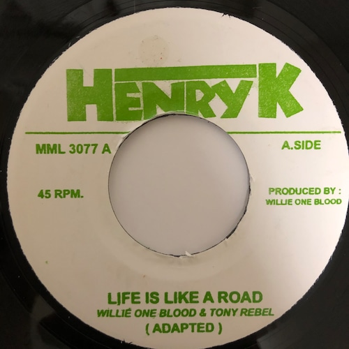 Willie One Blood & Tony Rebel - Life Is Like A Road【7-20403】