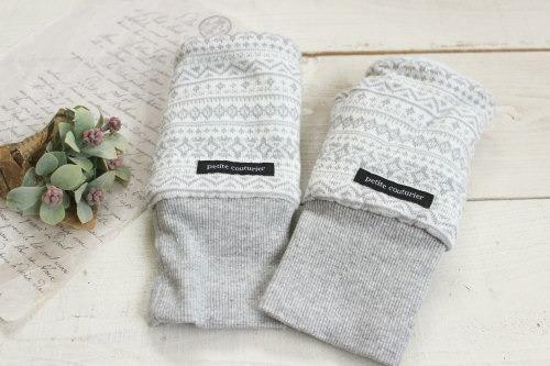 指なし手袋*ハンドウォーマー グレー/Hippo 型番: Hip-023