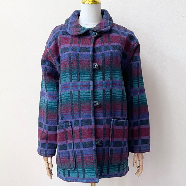 エルエルビーン L.L.Bean 80年代 USA製 ウール ラグジャケット ヴィンテージ古着