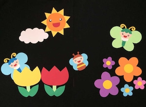 【春の壁面装飾】春のお花の蜜もうまそうだ