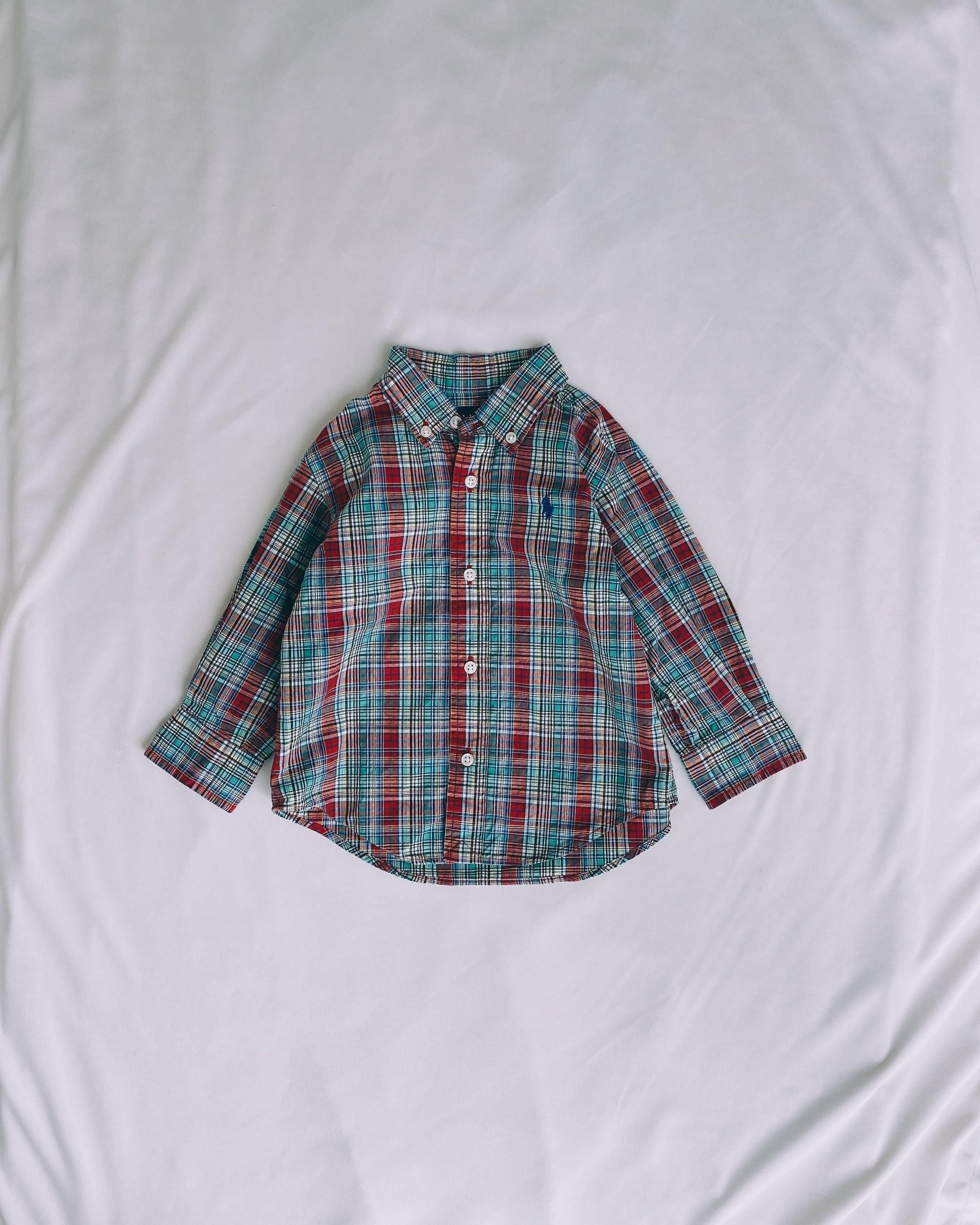 (KD137)80cm Ralph Lauren checked shirt