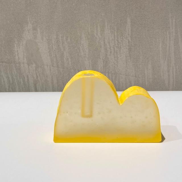 川崎和美 / 花器 黄色 山