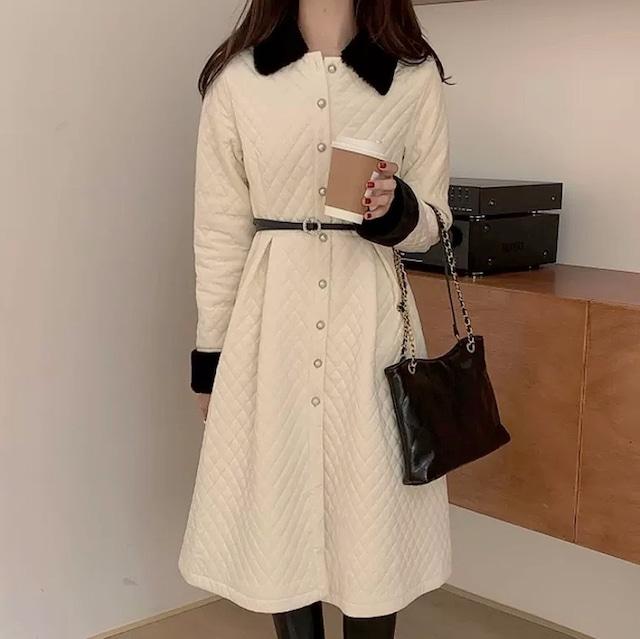 french elegant coat 2color