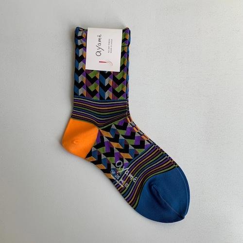 【Ayame】Rhythm Block socks/ AYM007/2001N