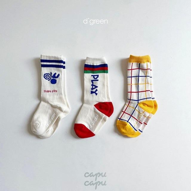 «即納»«3足セット» Play socks プレイソックス 靴下