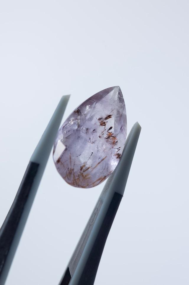 Goethite in Amethyst Faceted - 027