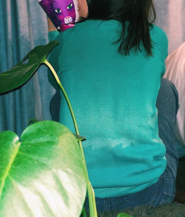 HIRAETH original bleach tye-dye sweat GRN