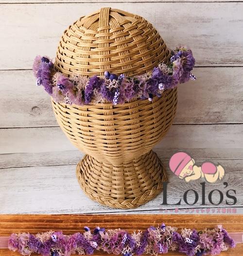 花いっぱいのニューボーンヘアアクセサリー(4)