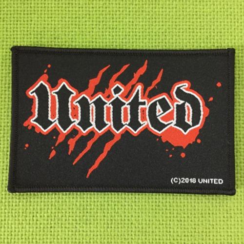 UNITED ロゴ刺繍パッチ(赤)