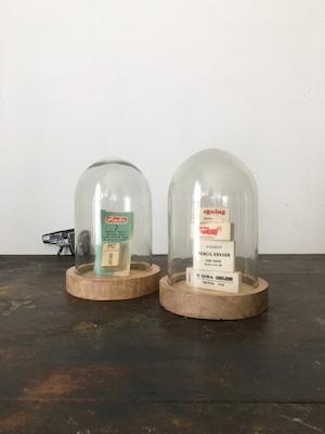 グラスドーム ウッドベース|Glass Dome with Wooden Base