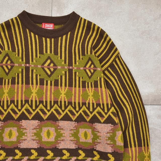 Native stripe design knit Made in France