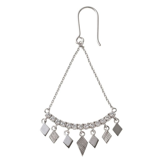 Rombic drop V pierced earring ロンビックドロップVピアス(片耳用)ELE0021S