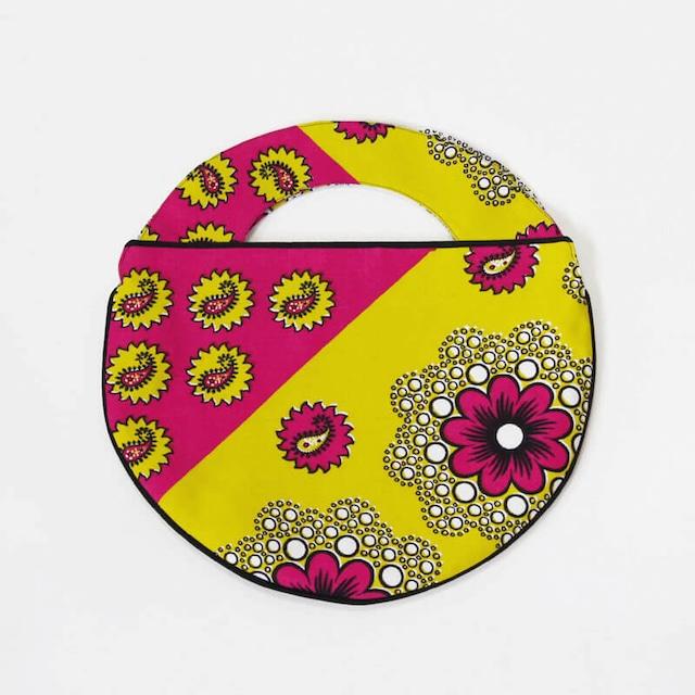 カンガのラウンドバッグ 丸型 / カンガ / アフリカ布