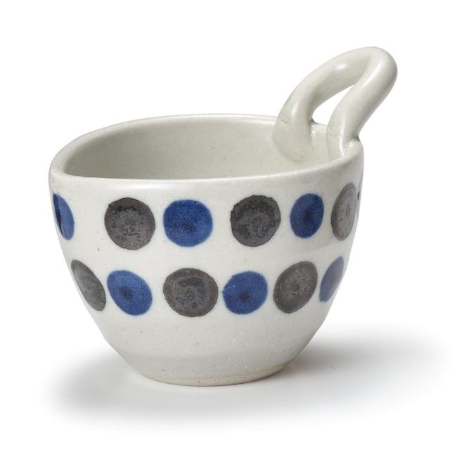 「朝ごはんの風景 asa-gohan」なっとうボウル 小鉢 直径約14cm ホワイト×ブルー 中丸ホワイト 美濃焼 288078