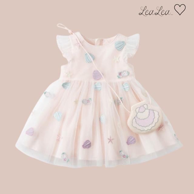 dave&bella♡ポシェット付きシェル刺繍ワンピース(80cm-140cm)  LeaLea...♡(レアレア)-海外の子供服セレクトショップ