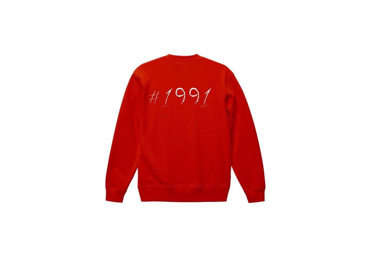 1991 big logo sweat (rd/wh)