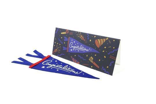 CONGRATULATIONS Greeting Card & Mini Pennant