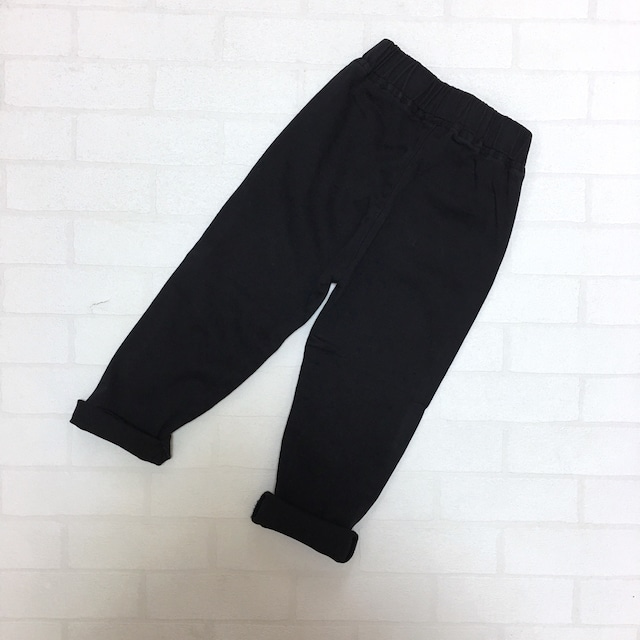 ベーシックストレッチパンツ ブラック【787】