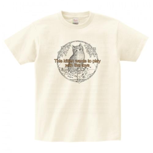 mimigris / 子猫 Tシャツ《送料無料》