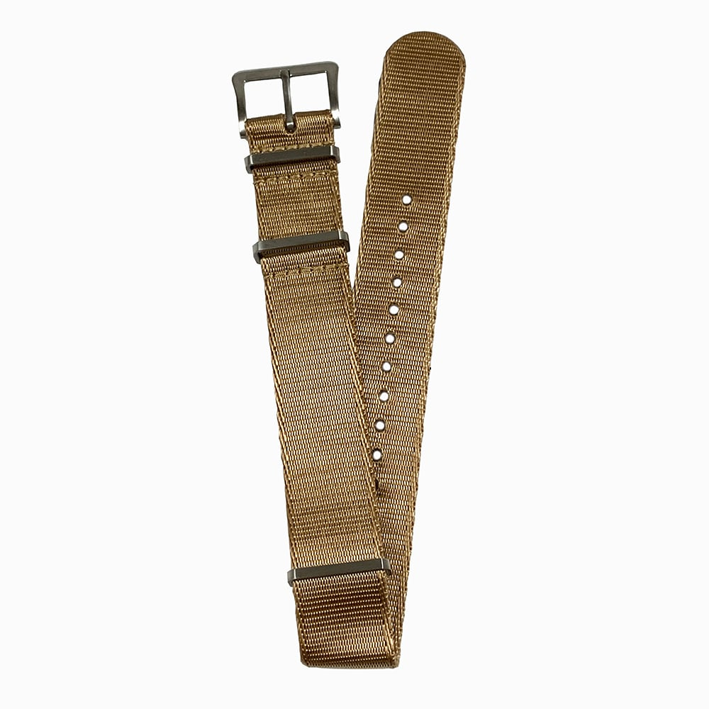 DELUXE NYLON NATO TYPE WATCH STRAP /  Light Brown color