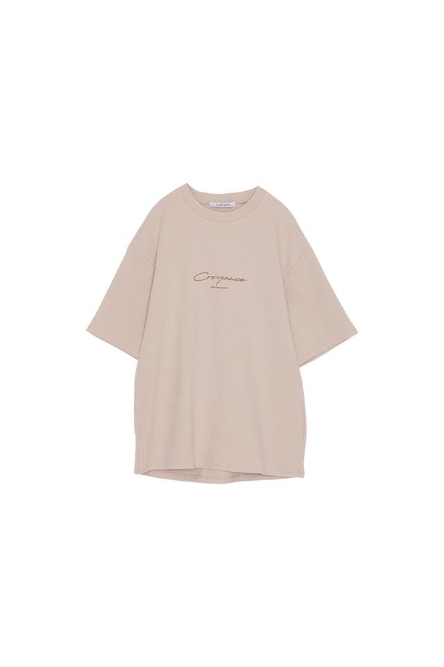 ピーチスキンロゴプリントTシャツ< ivory >
