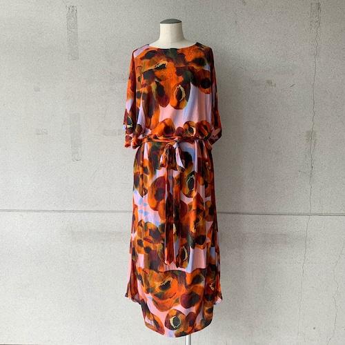 【HENRIK VIBSKOV】Pipette Jersey Dress /Dark Orange Canned Peaches/No.51-20-A