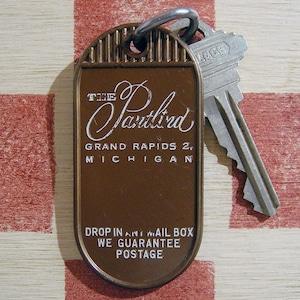 アメリカ ホテルTHE Pantlind [ザ・パントリンド]ミシガン ヴィンテージ ルームキーホルダー