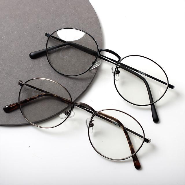 【曇らない特殊加工】UV&ブルーライト軽減オーバルだてメガネ 2色展開
