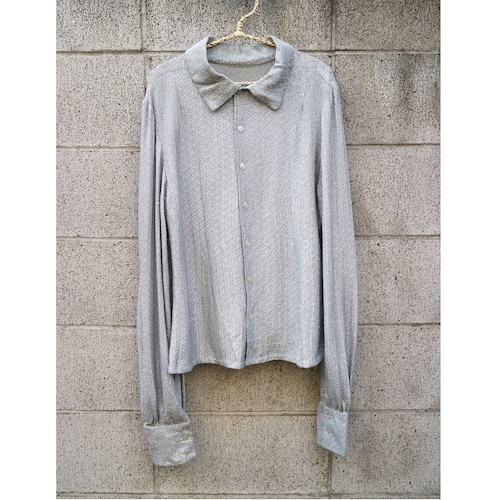 Silver shiny blouse