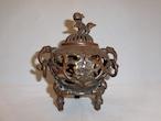 銅透かし香炉 copper incense burner