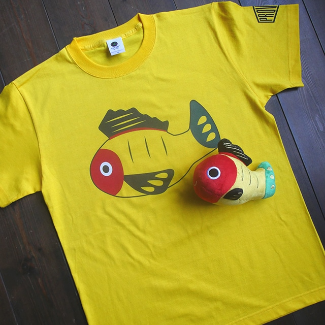 【送料無料】黄ぶなTシャツとぬいぐるみセット【疫病退散シリーズ】