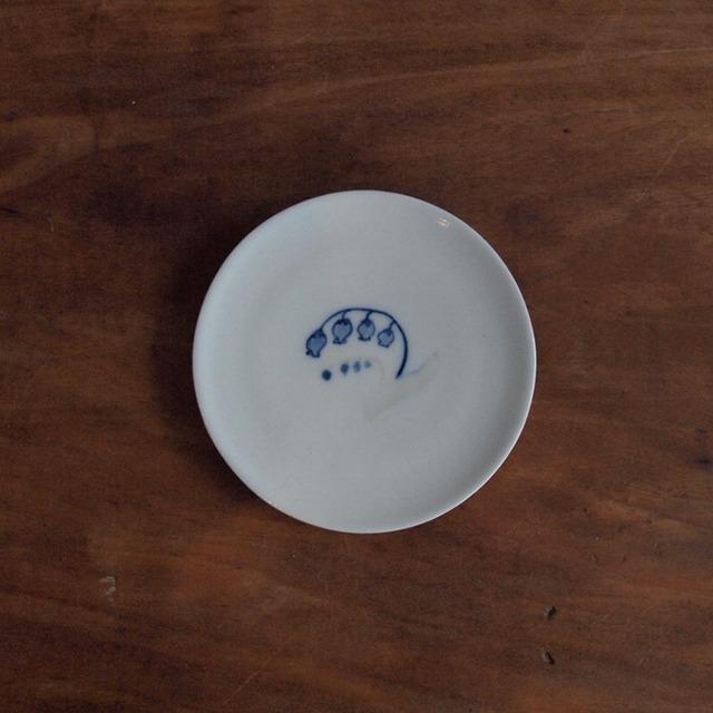 谷野明子|呉須と鉄の小皿 すずらん A