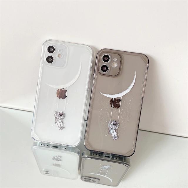 Astronaut moon iphone case