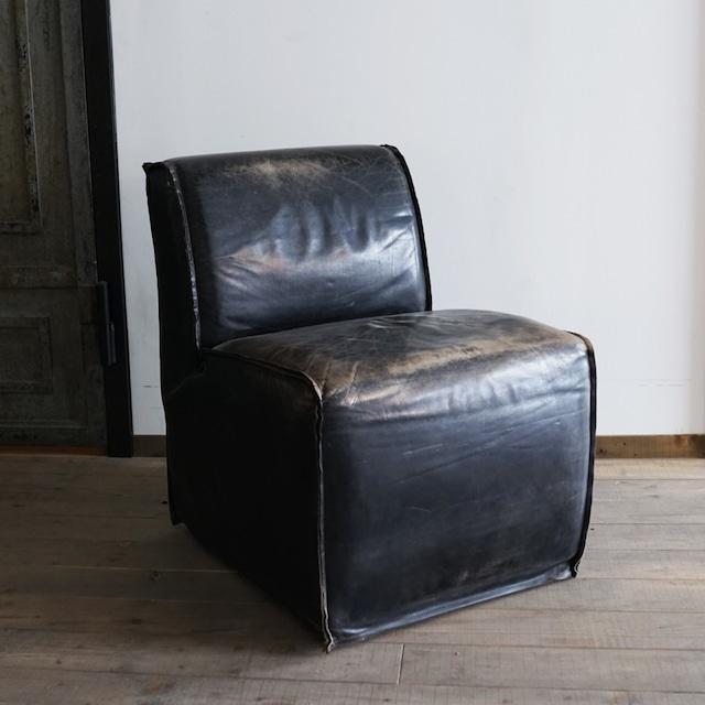 #12-01  Antique leather sofa