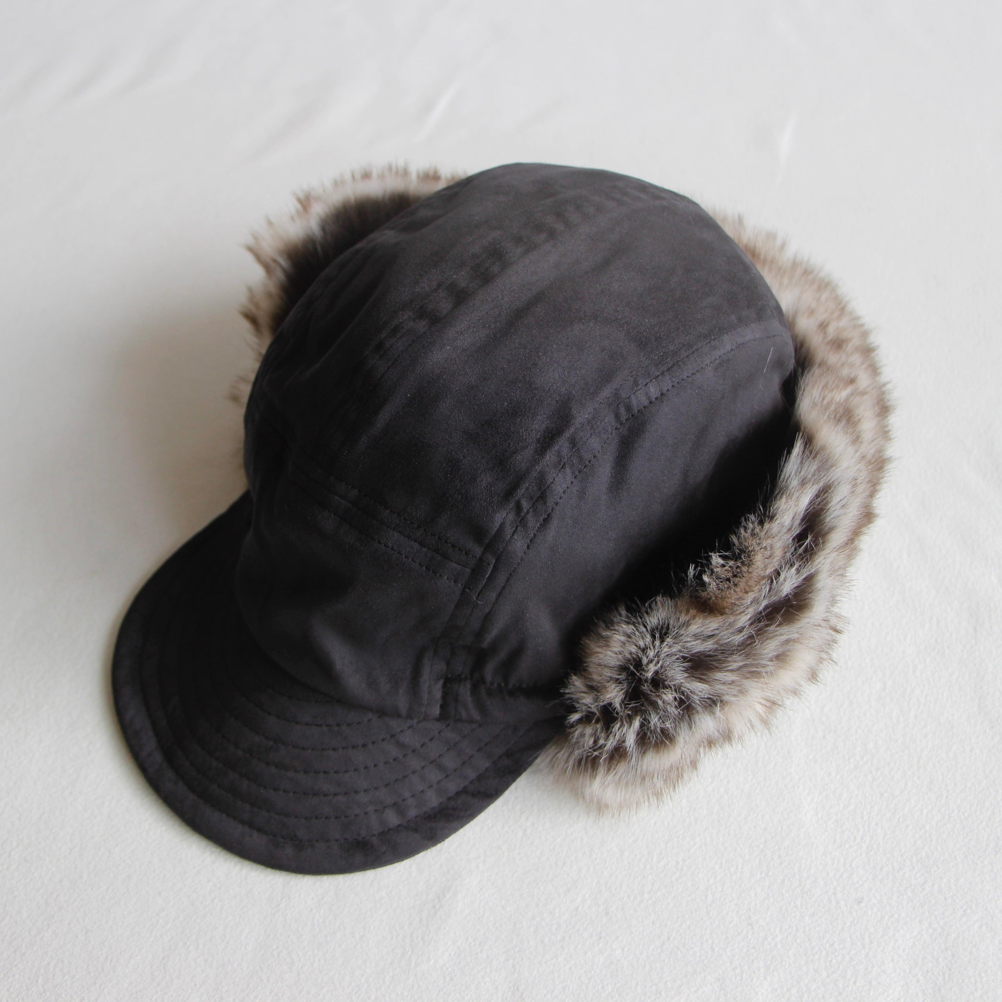 《MOUNTEN. 2021AW》fur ear muffs jetcap / charcoal